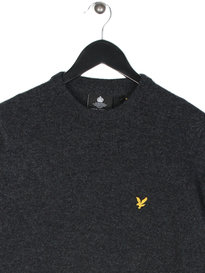 Lyle & Scott Crew Neck Lambswool Jumper Grey