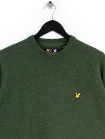 Lyle & Scott Crew Neck Lambswool Knitwear Green