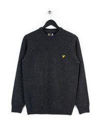 LYLE & SCOTT CREW NECK LAMBSWOOL KNITWEAR GREY