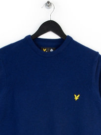 LYLE & SCOTT CREW NECK LAMBSWOOL KNITWEAR NAVY