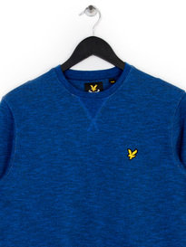 Lyle & Scott Crew Neck Mouline Sweat Top Navy Blue