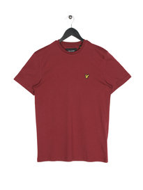 Lyle & Scott Crew Neck Short Sleeve T-Shirt 477 Claret