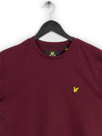 LYLE & SCOTT CREW NECK T-SHIRT CLARET RED