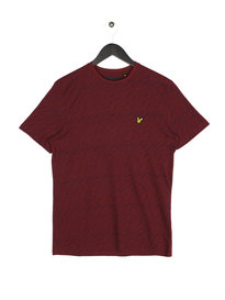 Lyle & Scott Distorted Pattern T-Shirt 477 Claret