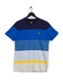 Lyle & Scott Engineered Stripe T-Shirt Navy