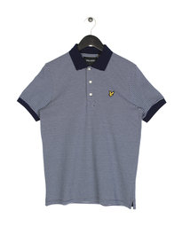 Lyle & Scott Feeder Stripe Short Sleeve Polo Z99 Navy
