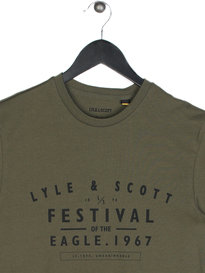 Lyle & Scott Festival Graphic T-Shirt A01 Olive