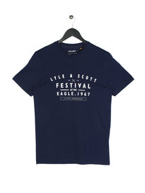 Lyle & Scott Festival Graphic T-Shirt Z99 Navy