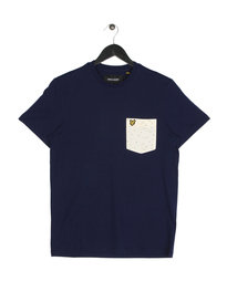 Lyle & Scott Fil Coupe Short Sleeve Pocket T-Shirt Navy