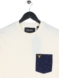 Lyle & Scott Fil Coupe Short Sleeve Pocket T-Shirt Off White