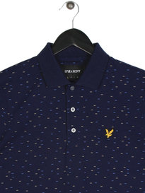 Lyle & Scott Fil Coupe Short Sleeve Polo Shirt Navy