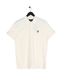 Lyle & Scott Fil Coupe Short Sleeve Polo Shirt Off White