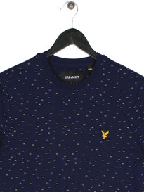 Lyle & Scott Fil Coupe Short Sleeve T-Shirt Navy