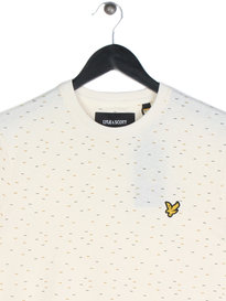 Lyle & Scott Fil Coupe Short Sleeve T-Shirt Off White