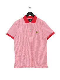 Lyle & Scott Fine Stripe Polo Shirt Red