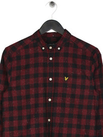 Lyle & Scott Flecked Check Shirt Claret