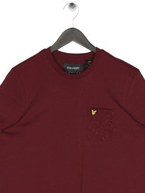 Lyle & Scott Flecked Pocket T-Shirt Claret