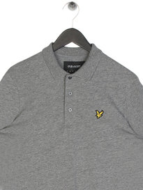 Lyle & Scott Flecked Polo Shirt Grey