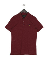 Lyle & Scott Flecked Polo Shirt Claret
