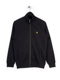 LYLE & SCOTT FUNNEL NECK ZIP TRACK TOP BLACK
