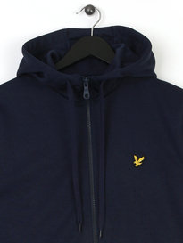 Lyle & Scott Funnel Neck Tricot Hoody Black