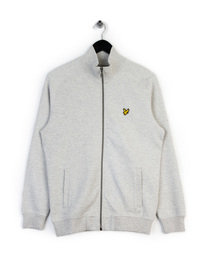 LYLE & SCOTT FUNNEL NECK ZIP TRACK TOP GREY