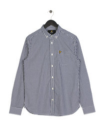 Lyle & Scott Gingham Shirt Z99 Navy