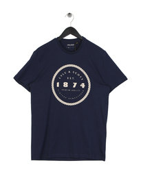 Lyle & Scott Graphic Print T-Shirt Navy