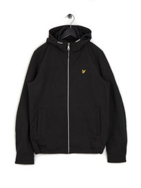 Lyle & Scott Hooded Softshell Jacket Black