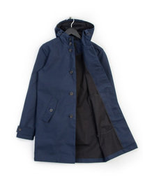 Lyle & Scott Hooded Trench Coat Navy