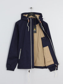 LYLE & SCOTT HOODED TWILL JACKET NAVY
