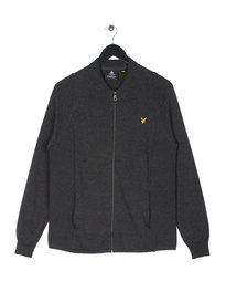 Lyle & Scott Knitted Bomber Grey