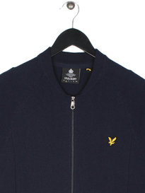Lyle & Scott Knitted Bomber Navy