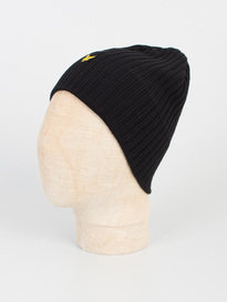 Lyle & Scott Knitted Ribbed Beanie 036 Black