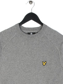 Lyle & Scott Links Panel Jumper Grey