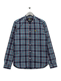 Lyle & Scott Long Sleeve Check Shirt Navy