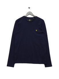 Lyle & Scott Long Sleeve Crew Neck T-Shirt Navy