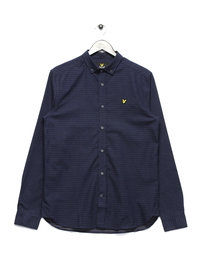 Lyle & Scott Long Sleeve Running Stitch Shirt Navy