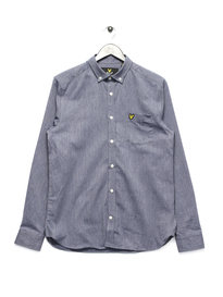 Lyle & Scott Long Sleeve Twill Mouline Shirt Navy