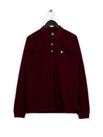 Lyle & Scott Long Sleeve Polo Shirt Claret Red