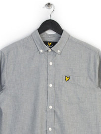 Lyle & Scott Marl Flannel Shirt Grey