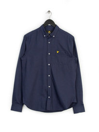 Lyle & Scott Marl Flannel Shirt Navy