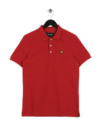 Lyle & Scott Marl Polo Shirt Z476 Red