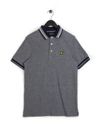 Lyle & Scott Oxford Tipped Polo Shirt Navy
