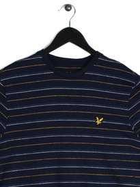 Lyle & Scott Pick Stitch Stripe T-Shirt Navy