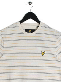 Lyle & Scott Pick Stitch Stripe T-Shirt White