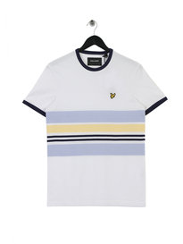 Lyle & Scott Pique Stripe Ringer T-Shirt 626 White