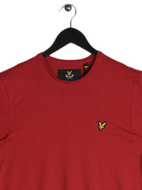 Lyle & Scott Plain Pick T-Shirt Red