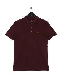 Lyle & Scott Plain Polo Burgundy