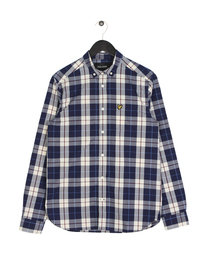Lyle & Scott Poplin Check Shirt Z139 Off White